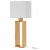 СТИЛТЬЕ Лампа настольная,белый с оттенком,желтая медь